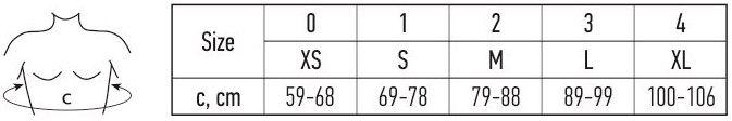 Korektorius dydžių lentelė