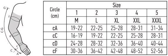 Rankovė dydžių lentelė
