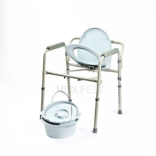 Suglaudžiama tualeto kėdė