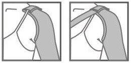 Medicininė kompresinė rankovė TONUS 0403-01 LUX su tvitrinimu per petį, II k.k. (23-32 mm Hg)
