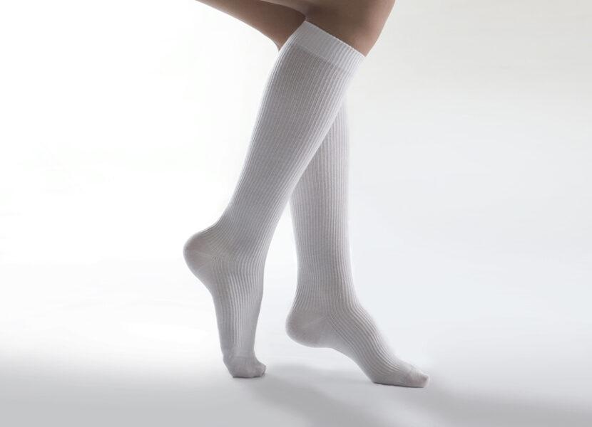 Medicininės kompresinės kojinės iki kelių 'Cotton Comfort', I k.k. (18-21 mm Hg)