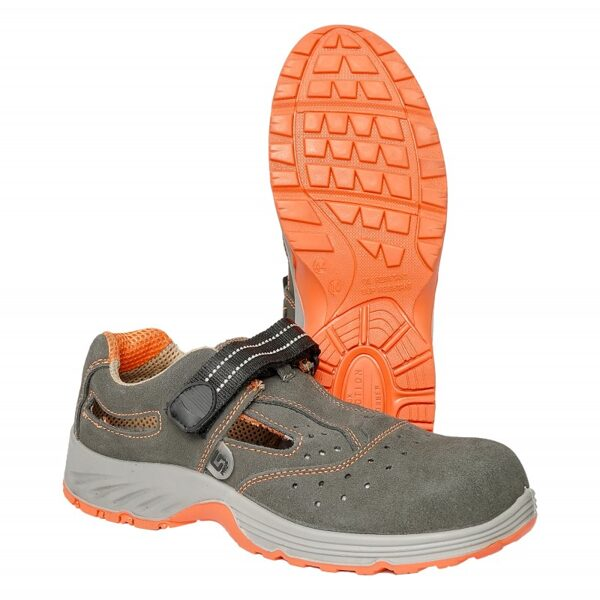 Sandalai odiniai orange GDS107 G-Safety S1 SRC