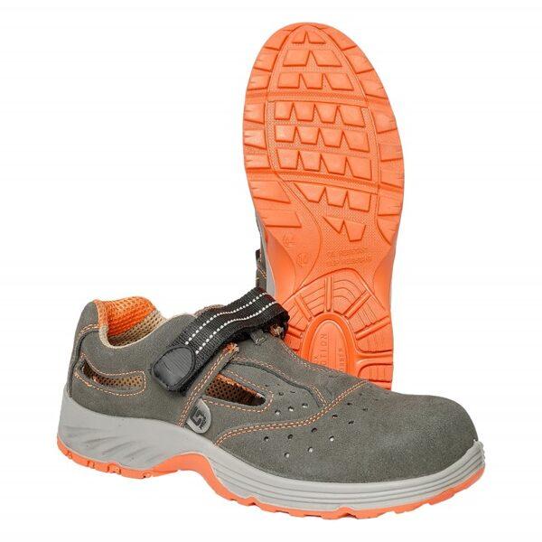 Sandalai odiniai orange GDS107 G-Safety S1 SRC
